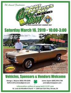 2019 St. Patrick's Day Car Show @ St. Louis de Montfort Church